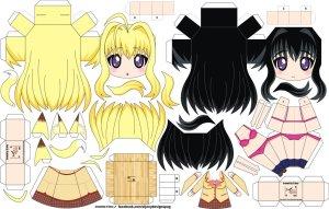 Papercraft de Anime - Chizuru Minamoto. Manualidades a Raudales.