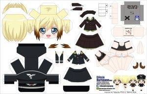 Papercraft de Anime - Erica Hartmann. Manualidades a Raudales.