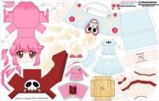 Papercraft Anime - Jakuzure Nonon. Manualidades a Raudales.