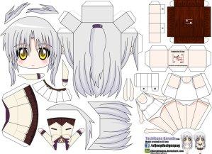 Papercraft Anime - Kanade Tachibana. Manualidades a Raudales.