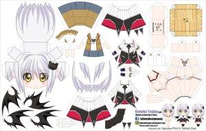 Papercraft Anime - Koneko Toujou. Manualidades a Raudales.