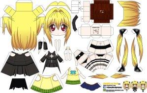 Papercraft Anime - Konjiki No Yami. Manualidades a Raudales.