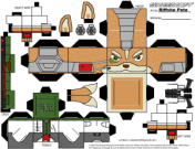 Cubeecraft de Fox Mccloud de Nintendo. Manualidades a Raudales.