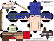 Cubeecraft de Ike Fire Emblem de Nintendo. Manualidades a Raudales.