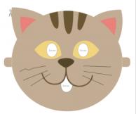 Máscara gato. Manualidades a Raudales.