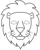 Careta de un león. Manualidades a Raudales.