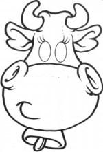 Máscara de vaca. Manualidades a Raudales.