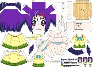 Papercraft de Anime - Haruna Sairenji. Manualidades a Raudales.