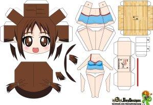 Papercraft de Anime - Hinako. Manualidades a Raudales.