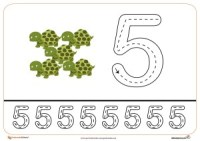 Grafomotricidad del número 5.