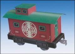 Papercraft imprimible y armable del vagón de Santa Claus. Manualidades a Raudales.