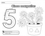 Ficha de Grafomotricidad del número 5. Manualidades a Raudales.