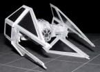 Papercraft imprimible y recortable de la nave Tie Interceptor de Star Wars. Manualidades a Raudales.