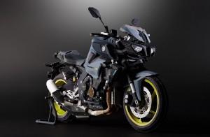 Papercraft imprimible y armable de la motocicleta Yamaha MT-10. Manualidades a Raudales.