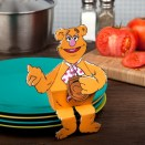 Papercraft recortable de Fozzie Bear Muppets. Manualidades a Raudales.