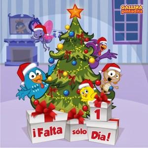 Papercraft recortable y armable del árbol de navidad de la Gallina Pintadita. Manualidades a Raudales.