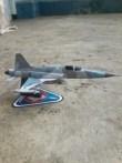 Papercraft imprimible y recortable del avión F5 Tiger de las Fuerzas Aéreas de Indonesia. Manualidades a Raudales.
