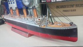 Papercraft del barco Titanic. Manualidades a Raudales.