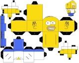 Cubeecraft de los Simpson. Manualidades a Raudales.