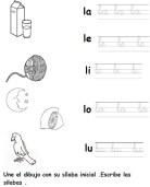 Fichas de grafomotricidad de la letra l. Manualidades a Raudales.