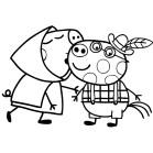 Ficha para colorear de Peppa Pig. Manualidades a Raudales.