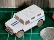 Papercraft del coche Gaz Tiger de la policia. Manualidades a Raudales.