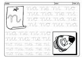 Grafomotricidad de la letra n. Manualidades a Raudales.