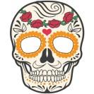Máscara de un esqueleto para Halloween. Manualidades a Raudales.