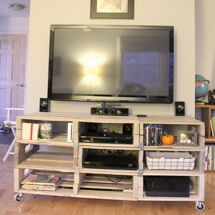 Muebles de palets para tv  ManualidadesManualidades