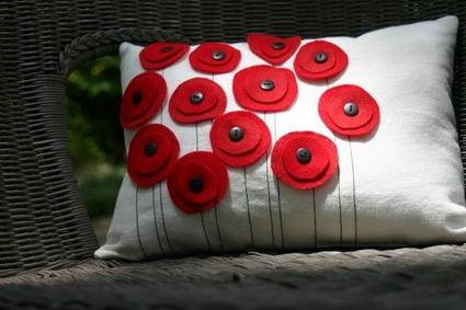 Detalles en pao lenci para la almohada