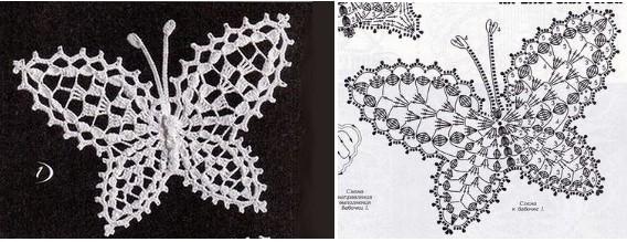 20 mariposas en crochet con diagramas  Manualidades Y