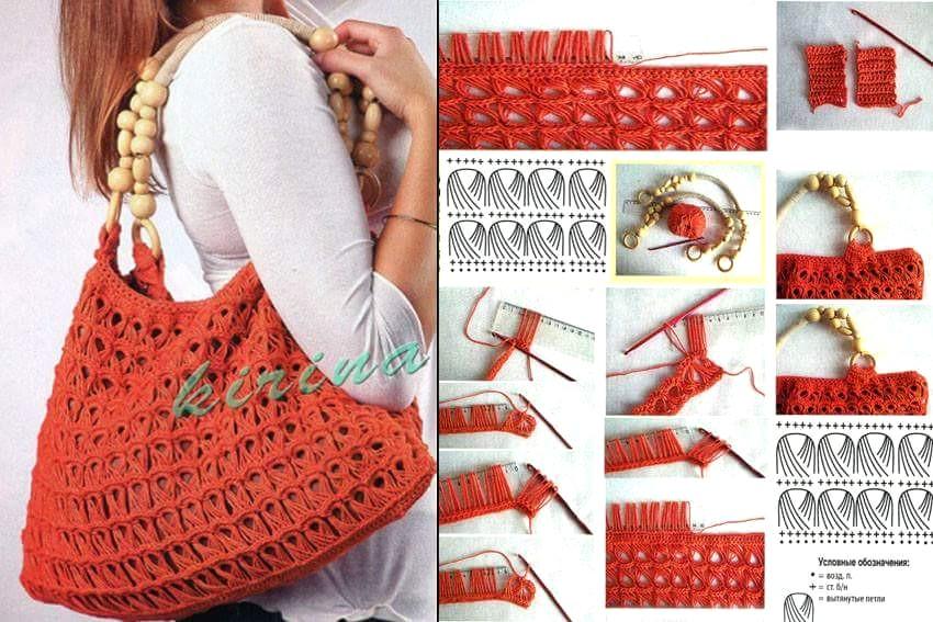 12 Encantadores Bolsos en Crochet con Patrones