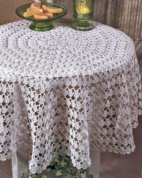 Patrones de Manteles Tejidos a Crochet  Manualidades Y