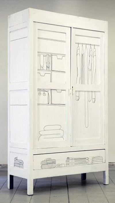 Idea para decorar las puertas de un armario - Decorar puertas de armarios ...