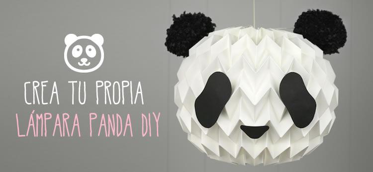 Crea tu propia lámpara Panda DIY - ManualidadesGratis.es