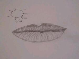 sombras del labio