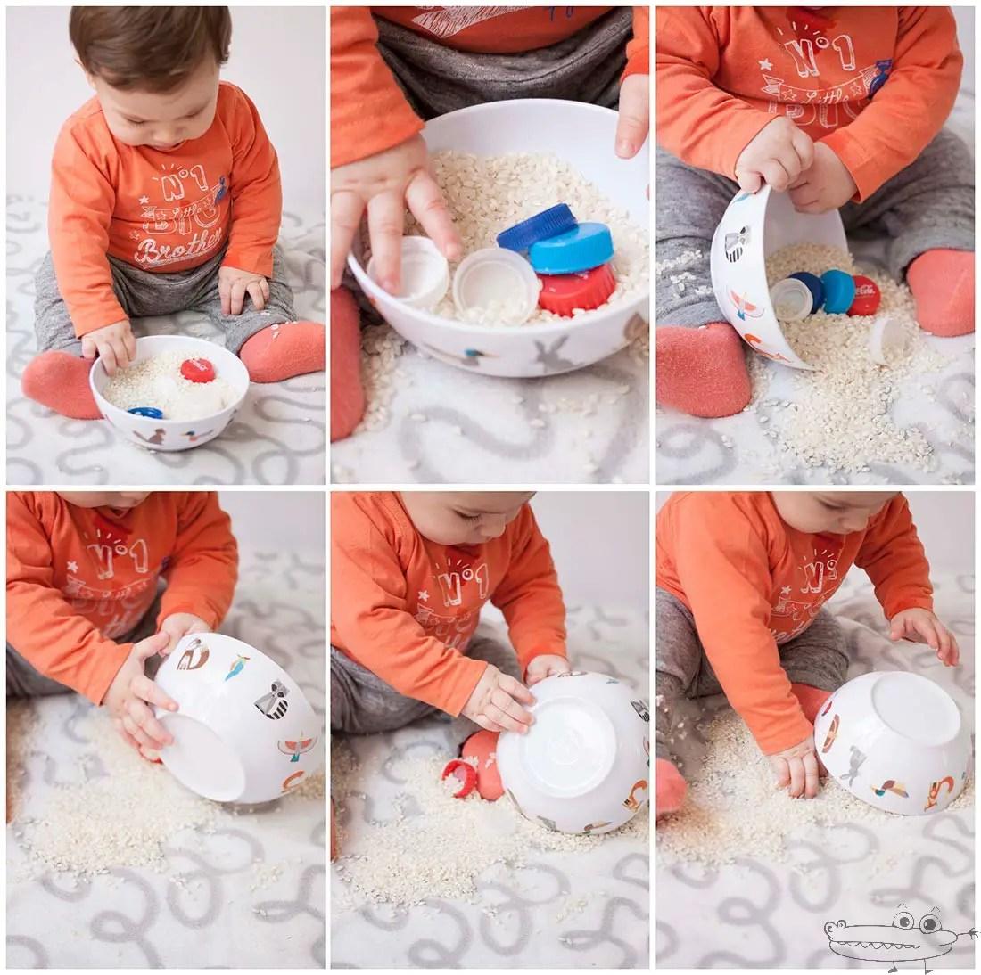 Actividades para beb con arroz  Actividades para nios
