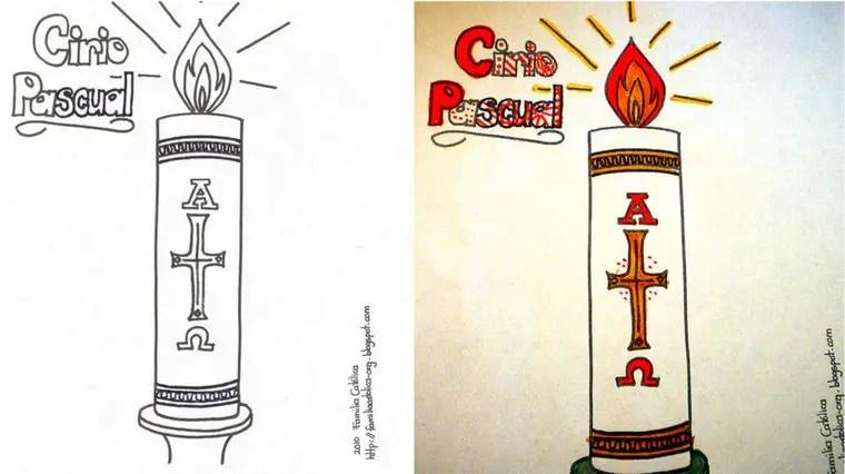 Cirio Pascual Para Dibujar