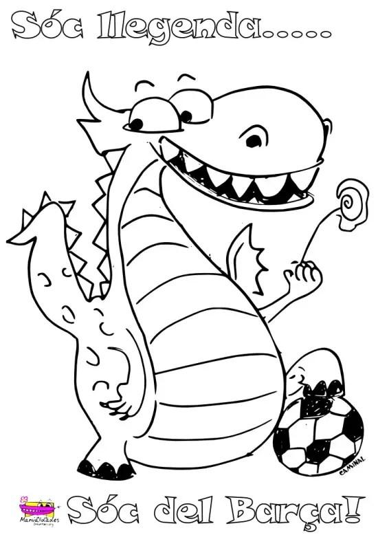 Dragon Sant Jordi Para Pintar