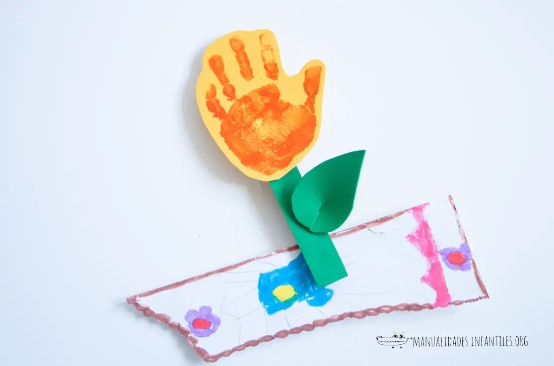Flor de mano con iman