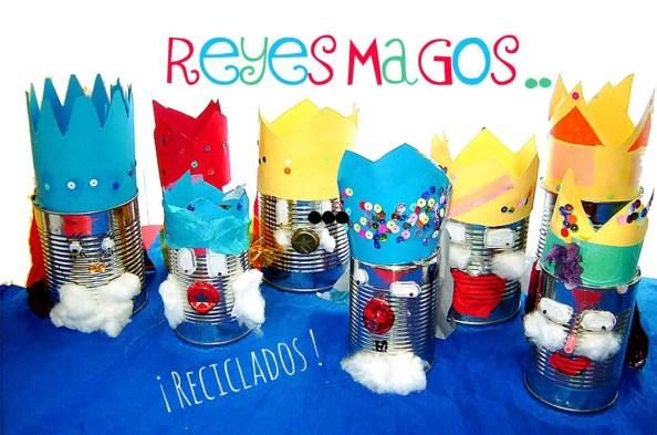 Resultado de imagen para manualidades con reciclaje para dia de reyes