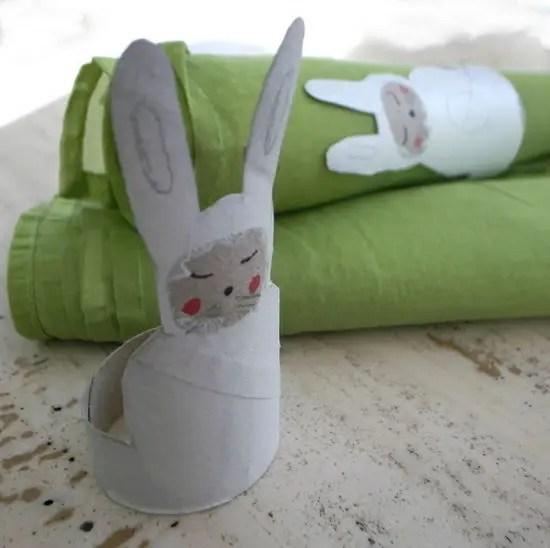 Servilletero de conejo reciclado  Actividades para nios manualidades fciles y juegos creativos