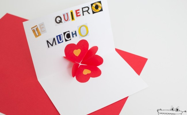 Tarjeta Pop Up Para San Valentín Actividades Para Niños