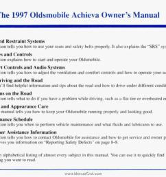 the 1997 oldsrnobile achieva [ 1294 x 900 Pixel ]