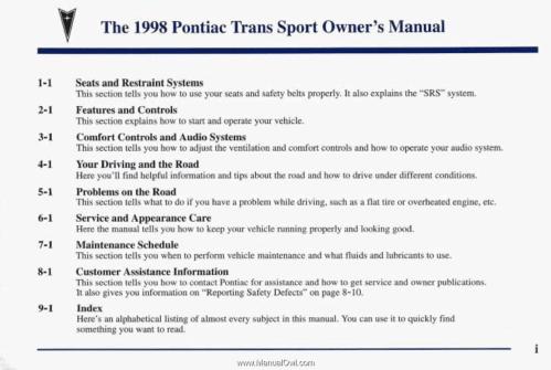 small resolution of pontiac trans sport fuse box location