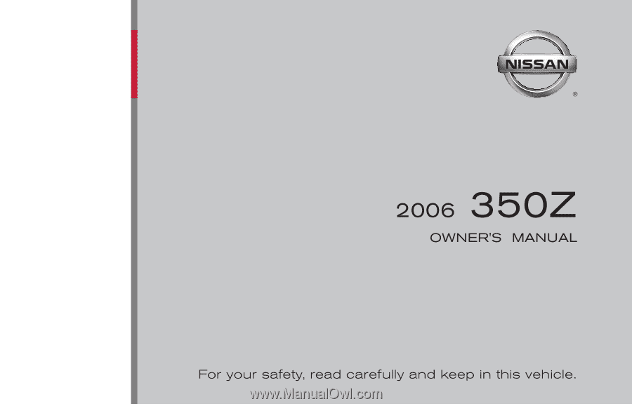 2006 Nissan 350z Roadster Owners Manual