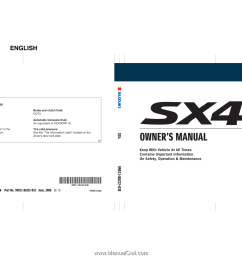 80j22 03e this owner s manual applies to the sx4  [ 1562 x 900 Pixel ]