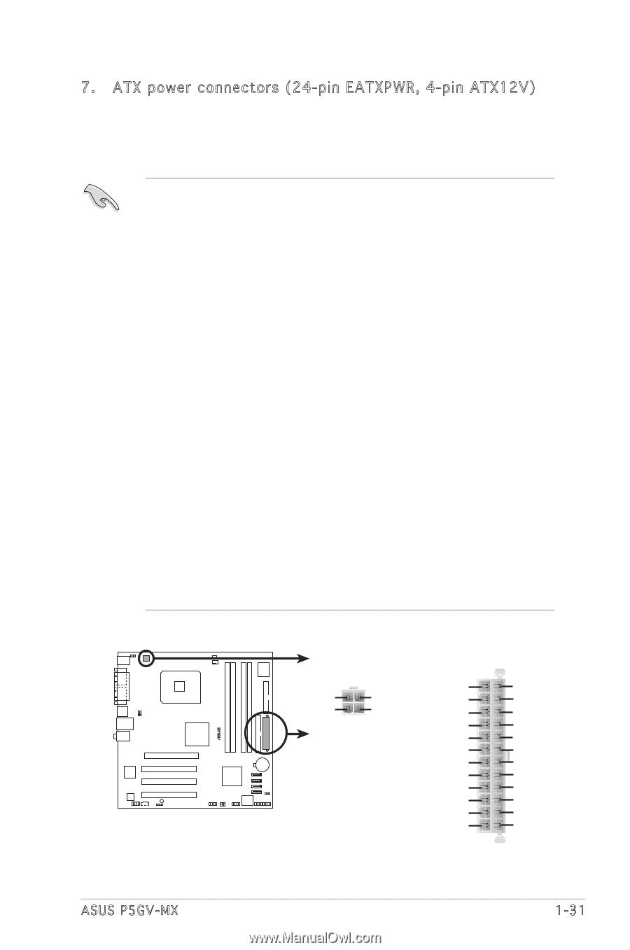 ASUS P5GV-MX MANUAL PDF