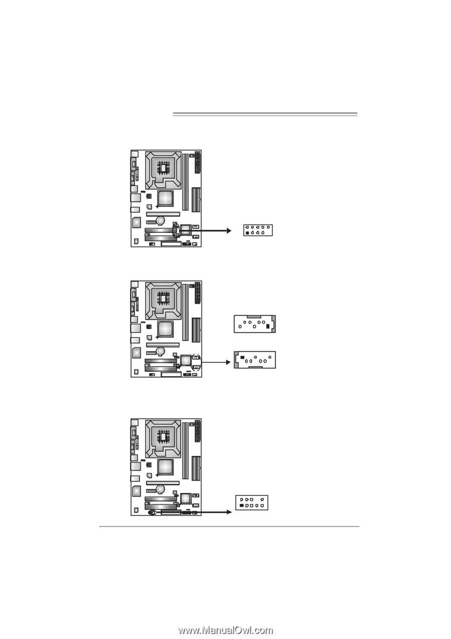 JUSB2/JUSB3: Headers for USB 2.0 Ports at Front Panel