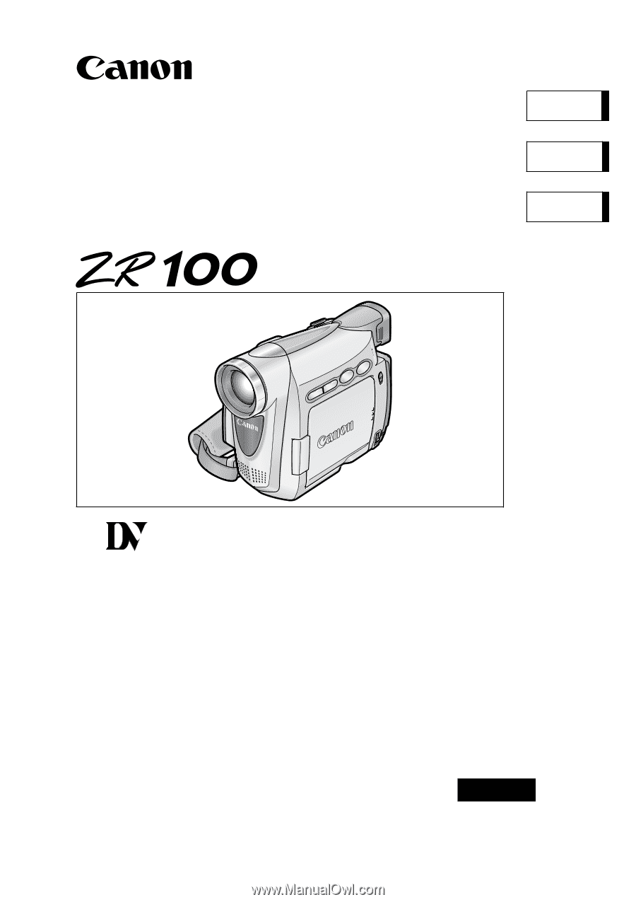 CANON ZR100 MANUAL PDF